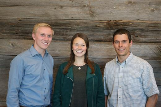 2016 Hired Interns - Kaitlin, Allen, Stephen